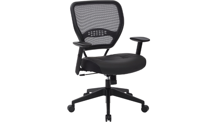 SPACE Seating Professional Padded Black Eco Leather Seat