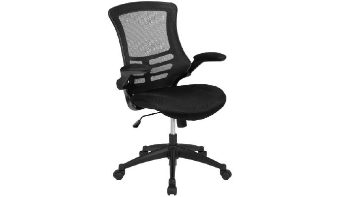 Flash Furniture Mid-Back Black Mesh Ergonomic Task Office Chair