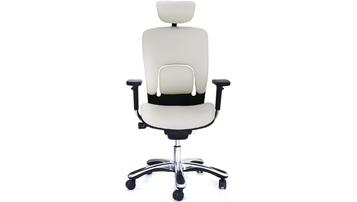 GM Seating Ergolux Genuine Leather Executive Hi Swivel Chair Chrome Base