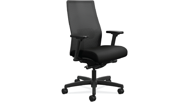 HON Ignition 2.0 Mid Black Adjustable Chair – Most Durable Construction