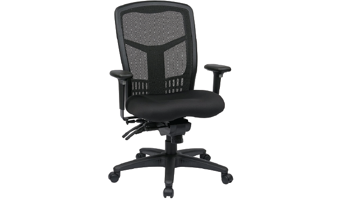 Office Star Progrid High Back And Adjustable Arms Massage Chair – Best Breathable Back